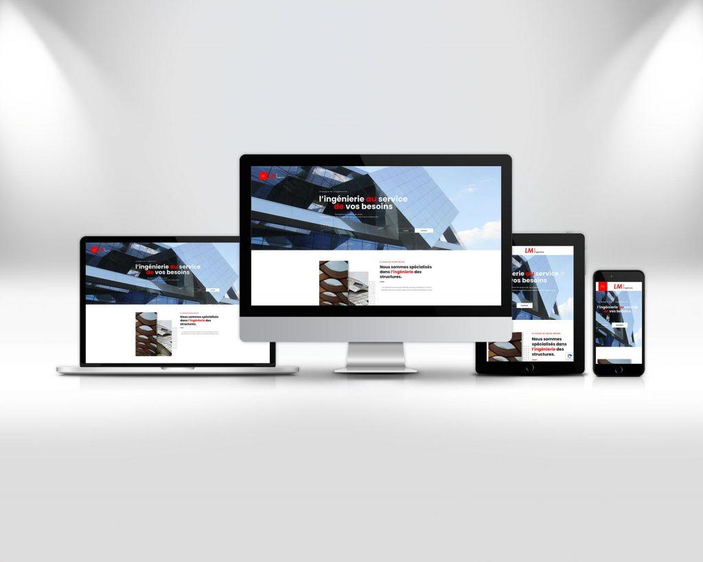 Réalisation du site Lm-ingenierie Haguenau